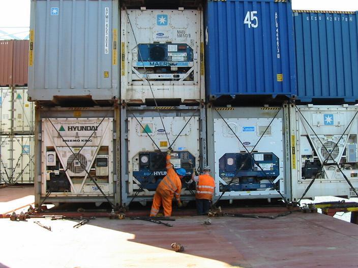 Укладка/крепление контейнеров